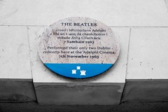 The Beatles Plaque_Middle Abbey St, Dublin (Clem Mason) Tags: plaque beatles adelphicinema november1963 clemmason fujixt2 music band group