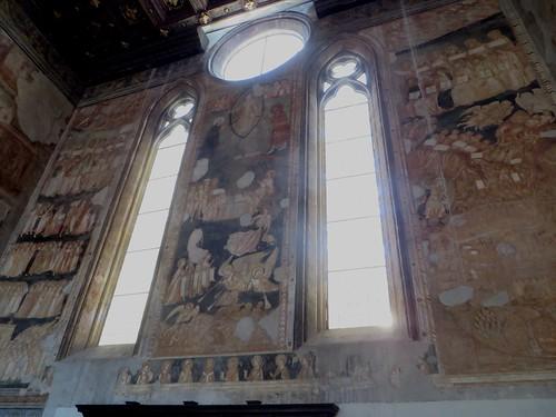 """""""Le Jugement Dernier"""", fresques (XIVe), chœur des religieuses, ancienne église gothique de Santa Maria Donnaregina Vecchia, Naples, Campanie, Italie."""