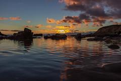 Low Reflection (---ZaBBeY---) Tags: beach canon sunset santabarbaracounty coastal coastline water reflection pacificocean california clouds cloudsstormssunsetssunrises dcc nautre ocean sea
