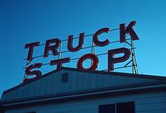 Noble's Restaurant & Truck Stop, Corinth, Kentucky (Roger Gerbig) Tags: corinth kentucky rogergerbig canoneos3 canonef28105f3545 kodachrome200 kl200 slidefilm 135film 35mm truckstop fullframe