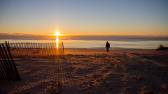 Morning Walk (Lester Public Library) Tags: tworiverswisconsin tworivers beach beaches sand water sun sunny sunrise lake lakemichigan greatlakes wisconsin neshotahbeach neshotah neshotahpark lesterpubliclibrarytworiverswisconsin readdiscoverconnectenrich