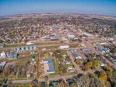 Madison, South Dakota is a Urban Center is an Agricultural State (JacobBoomsma) Tags: madison south dakota rural agricultural downtown aerial above fall autumn