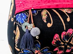 Shiva Bolster Midnight Flower*.jpg (KIZEN THE LABEL) Tags: hamsahand shivabolstermidnightflower pisbolongcoin flower midnight recycledpasticbottles meditationcushion yinyoga yoga kizen flyinghearts madewithlove pilates tassle bell pompom