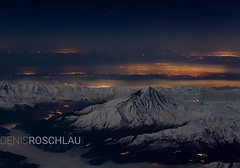 Mt. Damavand @ night (Denis Roschlau Photography) Tags: iran tehran teheran flying night dark mountain volcano vulkan aviation cityscape landscape aerial snow ice winter cold clouds citylights nightsky sky damavand