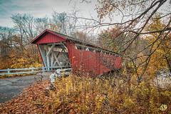 Everett Road Covered Bridge (Ed Balaun (supergolfdude)) Tags: autumn akron everettroad bridges cvnp outdoors peninsula ohio cuyahogavalleynationalpark coveredbridge