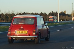 1991 Mini Cooper 1300 (NielsdeWit) Tags: nielsdewit car vehicle zg52fv a12 highway driving mini 1300 cooper red