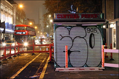 Fatso (Alex Ellison) Tags: fatso throwup throwie night tottenhamcourtroad centrallondon urban graffiti graff boobs
