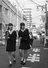 DSC00839_ep_gs (Eric.Parker) Tags: tokyo 2016 japan shimokitazawa schoolgirl uniform bw
