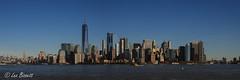 43/45 Manhatten skyline from Brooklyn (Leo Bissett) Tags: newyork ny bigapple skyscrapers hudson new york usa buildings