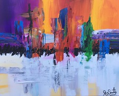 With the holidays coming up, why not keep your eyes on one of these beauties, which would definitely make a great gift? http://metalmanfineart.storenvy.com (JoeySantiagoFineArt) Tags: abstract painting artists art artworks acrylic techniques for sale ideas images black white original paintings