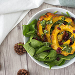 Acorn Squash and Spinach Salad top view thumbnail