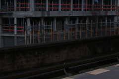 Construction Works (Binacat) Tags: canon eos 750d berlin tiergarten outside construction concrete metal red orange site color scaffold baugerüst baustelle beton metall rot architecture architektur dawn dämmerung