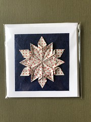 Origami snowflake by Dennis Walker (anuradhadeacon-varma) Tags: origamigreetingscard winter christmas spottypaper origamisnowflake origami snowflake