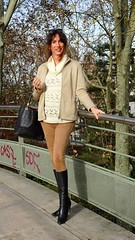 @ Bercy (french_lolita) Tags: white top camel legging coat boots black