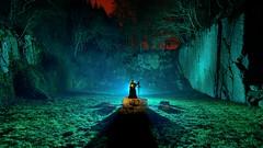 Winter is coming (palateth) Tags: lightpainting lightart night nophotoshop singleexposure urbex abandonnedplace backlight quarry medfan