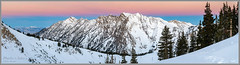 Snowy Pre-Dawn at Alta (Photo-John) Tags: mountains utah alta cold winter snow dawn sunrise predawn lcc slc outdoors adventure travel ski skiing panorama panoramic altaskiarea mtsuperior superior littlecottonwoodcanyon dawnpatrol rainbow spectrum editorialphotography stockphotography stockphoto landscape mountainscape outdoorphotography sonyalpha sonya6500 skiutah saltlakecity wasatchmountains