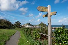 274/365 - Coast Path (Spannarama) Tags: 365 october sign signpost coastpath southwestcoastpath path footpath blueskies sunshine clouds coast sea ilfracombe hillsborough northdevon devon uk hills
