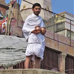 varanasi 2017 (gerben more) Tags: varanasi benares priest man beard two india