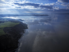 Breaking sunlight (Mike Foo) Tags: mavic drone dji air bretagne brittany france sea hdr weather storm quadcopter mirror reflection atmospheric morieux bay anse baie landscape sky rock beach ocean