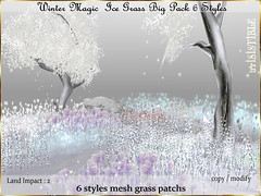 WINTER MAGIC GRASS (irrISIStible shop) Tags: winter patch tree wild christmas ice berry snow irrisistible shop magic wonderland foliage sl secondlife second life fantasy landscaping decor flowers frozen mesh build pack