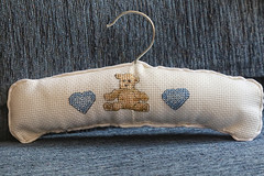 52 in 2019 Challenge - #21 - A Stitch in Time (crafty1tutu (Ann)) Tags: 52in2019challenge 21astitchintime craft embroidery crossstitch coathanger handmade crafty1tutu anncameron ef180mmf35lmacrousm canoneos7dmkii