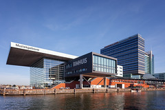 Muziekgebouw aan 't IJ (Jack Landau) Tags: amsterdam city urban architecture road street buildings netherlands canon 5d jack landau boat water sky building tree river