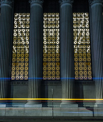 union bank (pbo31) Tags: sanfrancisco california nikon d810 color night city november 2018 boury pbo31 lightstream motion traffic roadway financialdistrict panoramic large stitched panorama bank architecture