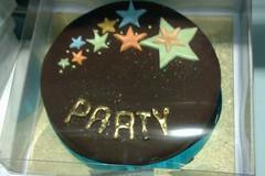 Challenge Friday, week 52, theme glisten (2) - Waitrose glistening party cake (karenblakeman) Tags: challengefriday cf18 glisten waitrose cake food stars party 2018 december uk