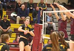 IMG_4779 (SJH Foto) Tags: girls high school volleyball garnet valley north allegheny state semifinals net battle spike block action shot jump midair