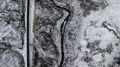 White Walkers' Way (aerojad) Tags: akrahreppur northwesternregion iceland is dji mavic mavicpro dronephotography drone 2018 landscape vacation travel wanderlust iceland2018 snowscape snow river riverscape lookdown routeone autumn october