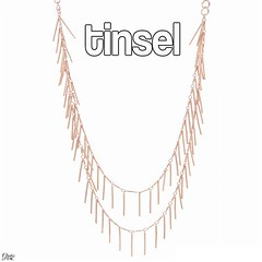 Add a fun touch to your jewelry collection this year! Ring-Ting-ting-a-ling's, rose gold fringe Necklace plays slender bar detailing suspended from delicate layers of elegant designer chain create a fresh glam statement neckpiece perfect for day or night. (LoveFifthAvenueCollection) Tags: lovefifthavenuecollection fifthavenuecollection fashion jewellery home based business