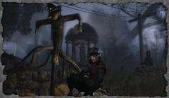 Random Series ~ Aqualung (0rco) Tags: gothic random aqualung jethrotull randomcharacters atmospheric creepy secondlife storm scarecrow horse spooky