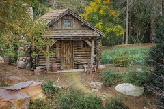 Log Cabin on Tom Sawyer Island at Disneyland California (M424Photography) Tags: log cabin rustic old brown trees river rivers america disney disneyland california rocks boulders vintage settler waterway island tom sawyer nature natural