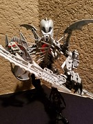 Bionicle M.O.C. - Yolgg, The Deviant Knight/Demon Wraith (Makuta Alvarez) Tags: knight warrior demon wraith ghost goth gothic tentacles spikes bionicle lego toy moc silver evil