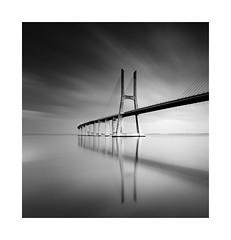 Vasco (TS446Photo) Tags: nikon longexposure filter blackandwhite black white mono monochrome bridge curve reflection figure river water clouds silver fineart ts446 londonfineart