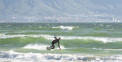 Cape Town kiting (Rob Millenaar) Tags: southafrica capetown bloubergstrand dolphinbeach kitesurfing people