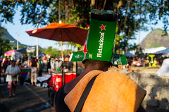 """Heinekenman"" Rio de Janeiro, Brasil (MUDILANE) Tags: riodejaneiro rio carnaval2019 people fun colors local brasil leica mlazarevphoto photography city rj carioca street"