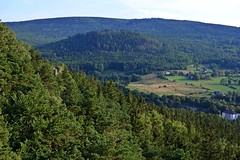 hills around the castle :) (green_lover (I wait for your COMMENTS!)) Tags: landscape hills mountains poland szczytnik trees forest green fromabove