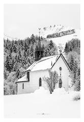 17/365 - Chapelle des Mouilles (lodebelvo) Tags: chapelle snow bw bellevaux noiretblanc neige