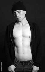 IMG_4737a (shotbygrant) Tags: shotbygrant alex malemodel male model blackandwhite blackwhite body torso topless pecs muscle