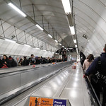 A busy escalator at a London tube station (Holborn) thumbnail