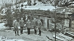 German officers in front of duouts in side of hill west of Verdun.  German negative ca1914 NARA111-SC-37521-ac (over 15 MILLION views Thanks) Tags: germanarmy ww1 worldwari france 19141918