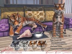 JIAN Tiger Collection (Belle Feb '19) ([JIAN]) Tags: secondlife mesh animals wildlife tiger companion wanderer jian