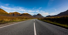 The road to somewhere (Phil-Gregory) Tags: nikon d7200 tokina1120mmatx tokina road isleofskye sky mountains scotland scenicsnotjustlandscapes landscapephotography landscapes blue