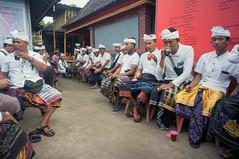 place for the men (kuuan) Tags: manualfocus mf voigtländer15mm cvf4515mm 15mm bali indonesia sonynex5n festival temple preparations offerings men traditionaldress
