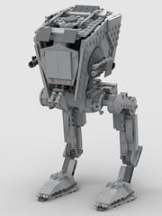 lego AT-ST 75153 mod (KaijuWorld) Tags: lego moc custom set mod st walker empire endor star wars ldd