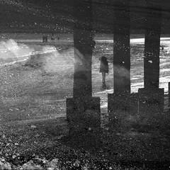 Weymouth Walk (Ali's view) Tags: coast walk weymouth blackandwhite beach multipleexposure contrast