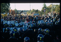 """733- around 240 (hoffman) Tags: activism activist antiracism antiracist bnp campaign campaigner campaigning conflict constable cop crowd demo demonstrate demonstrater demonstrating demonstration discipline disorder disturbance enforcement force group helmet helmets horizontal lawandorder males march media metropolitan officer officers outdoors police policeman press protectiveclothing protest riot security shield shields smoke street uniform uprising violence violent welling 181112patchingsetforimagerights davidhoffman wwwhoffmanphotoscom london uk davidhoffmanphotolibrary socialissues reportage stockphotos""""stock photostock photography"""" stockphotographs""""documentarywwwhoffmanphotoscom copyright"""