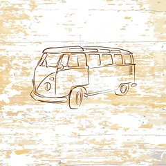 Vintage bus drawing on wooden background (Hebstreits) Tags: 1950s art auto automobile background black bus camper car classic design doodle drawing drawn graphic hand hippie holiday icon illustration isolated journey lifestyle logo minivan nostalgia old poster retro sign silhouette sketch style summer surf symbol transport transportation travel trip typography vacation van vector vehicle vintage wagon watercolor wedding white