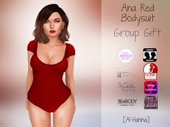 [Al-Hanna] Ana Red Bodysuit GROUP GIFT (Alhanna Ysabel) Tags: group gift sl alhanna slink maitreya belleza banned ebody appliers physique hourglass tmp